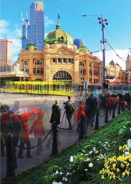 Flinders Street POV - 3 of 3 - Framed
