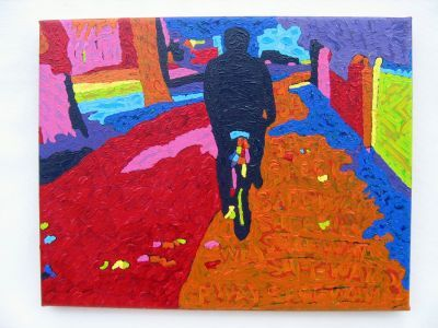 Cyclist II (Line of Way Series)