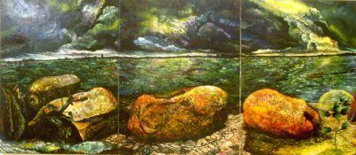 Resurrection - Restoration (Port Phillip Bay) (triptych)